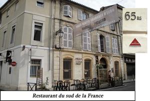 Un restaurant du Sud de la France